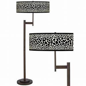 leopard giclee parker light blaster bronze floor lamp With floor lamp with leopard shade