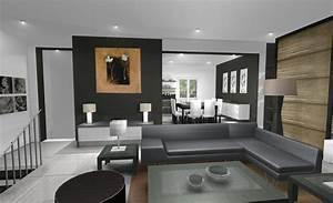 Décoration Intérieure Salon : tableau floral dans un salon design ~ Teatrodelosmanantiales.com Idées de Décoration