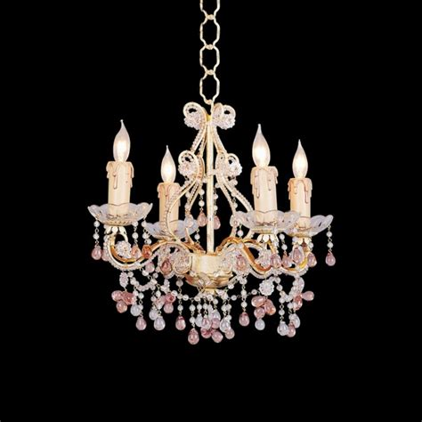 colored chandelier country cottage annabella four light colored