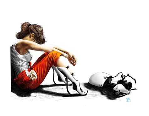 Chell From Portal By Daveastation On Deviantart