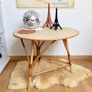 Table Basse Rotin : table basse rotin brocanteandco boutique en ligne de brocante ~ Teatrodelosmanantiales.com Idées de Décoration