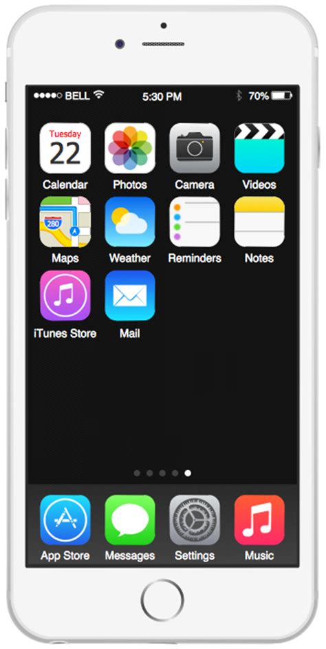 iphone 6 home screen iphone user interface solution conceptdraw