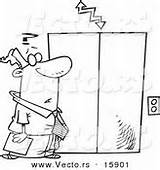Elevator Coloring Pages Drawing Cartoon Template sketch template