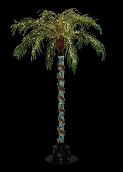 light up palm tree outdoor artificial lighted palm trees best fake palm trees with