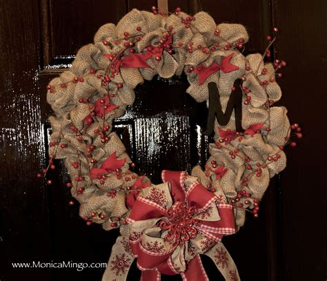 burlap wreath  christmas easy