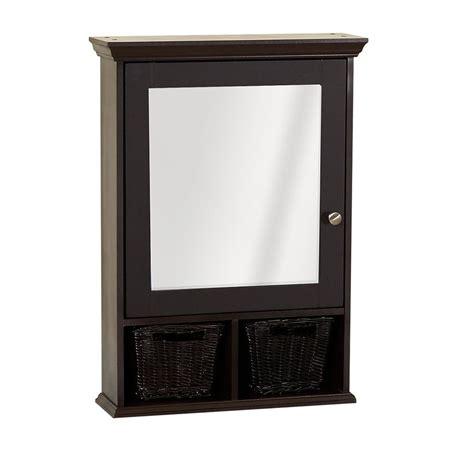 Decorative Medicine Cabinets Framed - zenith products espresso decorative medicine cabinet with