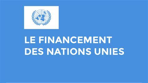 si鑒e des nations unies le financement des nations unies la en guin 233 e et