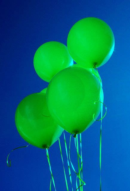 Blue Green Balloons