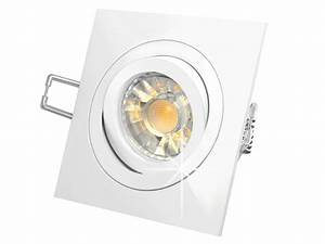 Led Einbaustrahler Ip44 Schwenkbar : qf 2 led einbauleuchte wei schwenkbar 5w led dimmbar warmwei 230v gu10 in halogenoptik ~ Bigdaddyawards.com Haus und Dekorationen