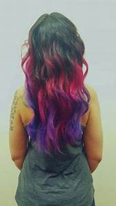 Pravana neon ombre Hair by Angie at Vain Pinterest