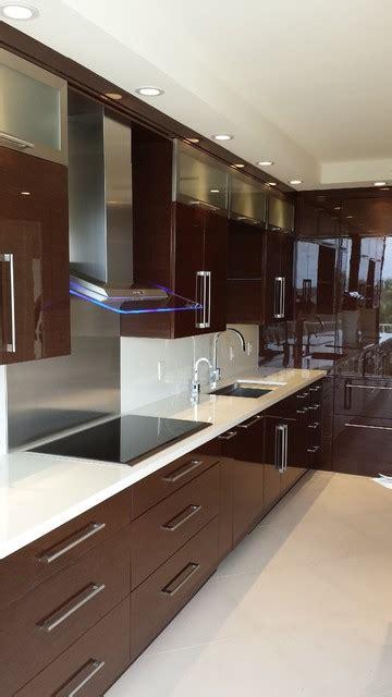 kitchen cabinets modern horizontal wenge high gloss contemporary kitchen 3111