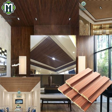 factory price eco friendly wpc wood ceiling designs panel