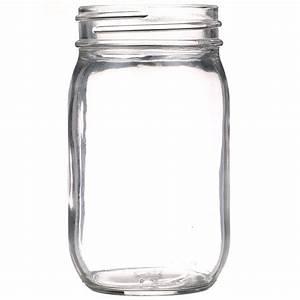 16, Oz, Clear, Glass, Round, Economy, Jar