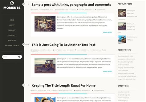Templates Entertainment Blog by Moments Responsive Template Templates 2018