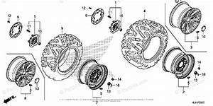 Honda Side By Side 2016 Oem Parts Diagram For Wheel