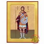 Byzantine Saint Icon Wooden Orthodox Nioras