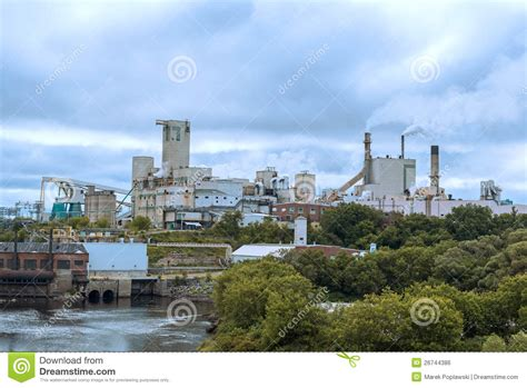 Domtar Paper Mill In Town Of Espanola, Ontario Royalty ...
