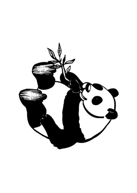 Dierenmasker Kleurplaat Panda by Kleurplaat Panda Afb 10434