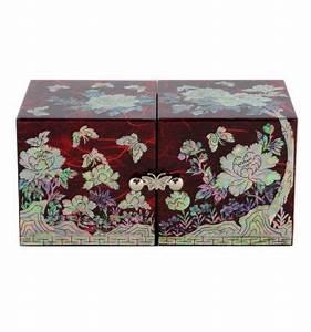 Boite A Bijoux Originale : boite bijoux rouge design fantaisie papillon et fleurs ~ Teatrodelosmanantiales.com Idées de Décoration