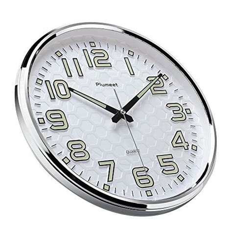 light function plumeet 13 inch wall clock with