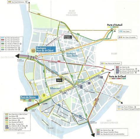 plan des si鑒es air l e bbboulogne billancourt et ses transports l e bb