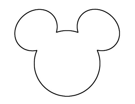 Mickey Mouse Shape Template by Outline Of Mickey Mouse Cliparts Co