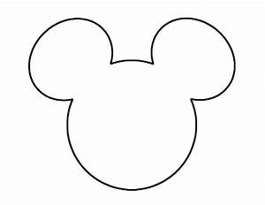 Outline of mickey mouse head clipartsco for Mickey mouse silhouette template