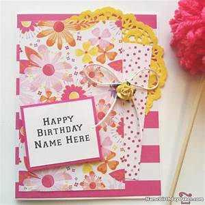 Greeting Card Birthday With Name Happy Birthday Wishes