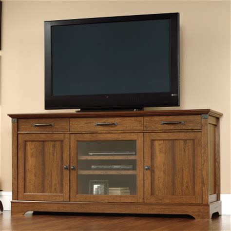 Tv Credenzas by Sauder Tv Stands Carson Forge 412921 Media Console Media