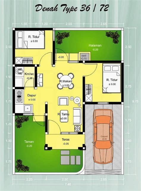 denah rumah minimalis posisi hook gambar desain