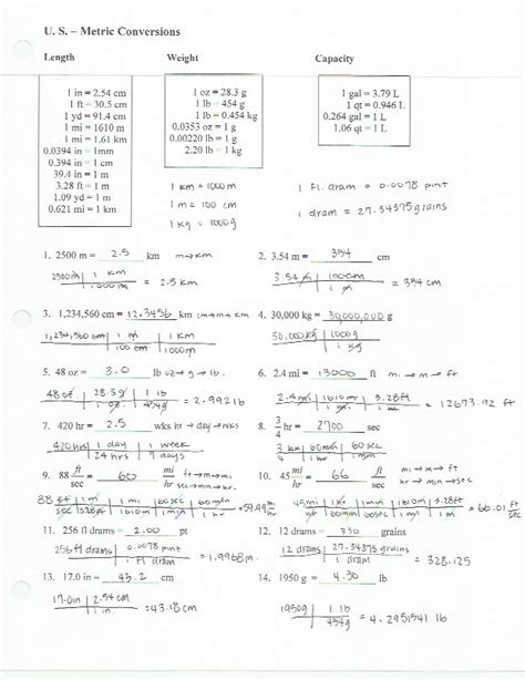 dimensional analysis worksheet with answers worksheets for