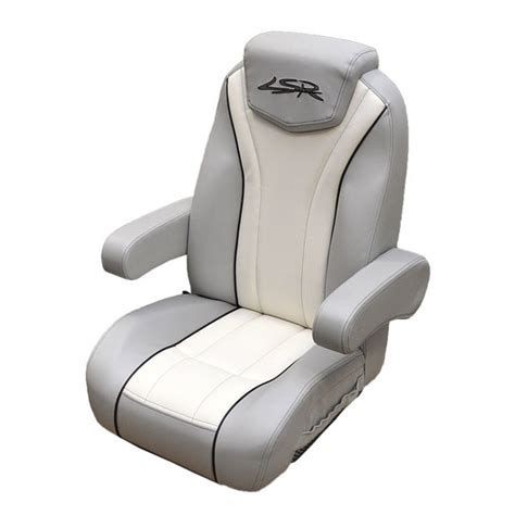 Used Captain Chairs For Boats by Larson 14 Lsr White Gray Reclining Boat Captains Seat