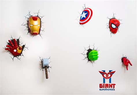 super cool avengers 3d wall deco lights for sale 3d wall lights in 2019 led