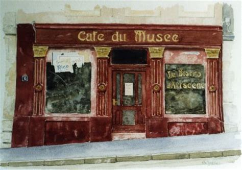 cafe du musee luxembourg watercolour