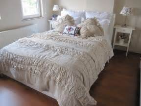 Housse De Canapé Shabby Chic by Shabby Cottage Chic Ruched Bedding Duvet Cover Twin By