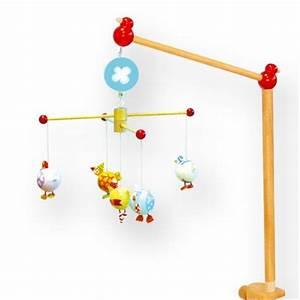 Potence Mobile Bébé : mobile musical en bois complet oiseaux ronds tradition jouet ~ Teatrodelosmanantiales.com Idées de Décoration