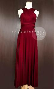 maxi wine red bridesmaid dress prom dress wedding dress With red dresses to wear to a wedding