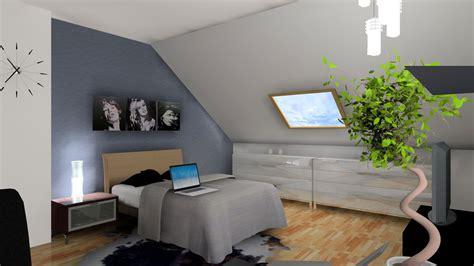 bureau aménagé 3d chambre sous comble