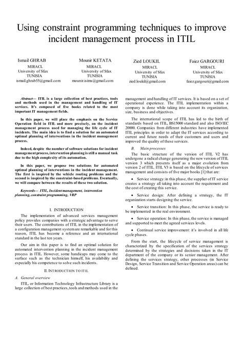 (PDF) Using constraint programming techniques to improve
