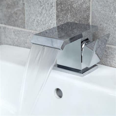 aqua waterfall basin mixer tap