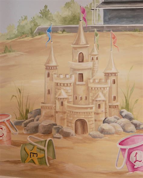 Ideas For Kitchen Window Treatments - sand castle mural in children 39 s room kids boston by