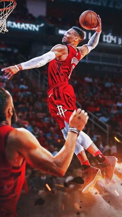 Westbrook Russell Nba Wallpapers Dunk Slam Basketball