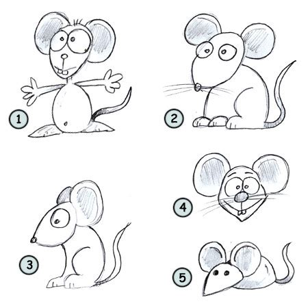 drawing  cartoon mouse