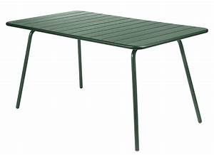 table luxembourg 6 personnes 143 x 80 cm aluminium With ordinary fermob jardin du luxembourg 6 table luxembourg fermob 143 x 80 cm