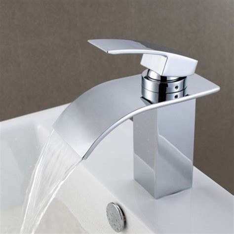 designer bathroom faucets contemporary waterfall bathroom sink faucet 8061 contemporary bathroom sink faucets by