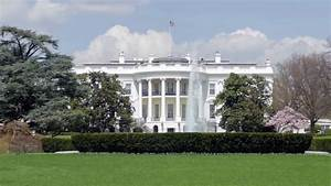 Washington DC - The White House / Side View With Beautiful ...