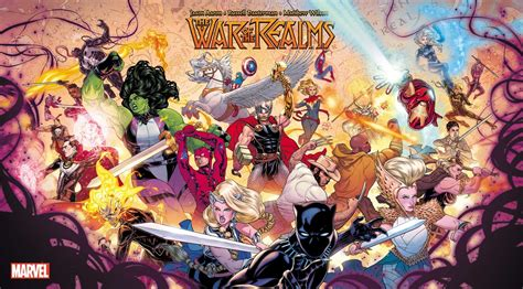 marvels war realms coming april flickering myth