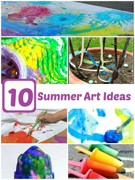 10 Summer Art Projects For Kids!  Simple Play Ideas