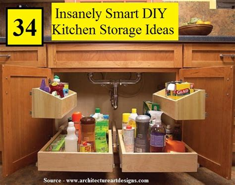 smart kitchen storage 34 insanely smart diy kitchen storage ideas home and 2381