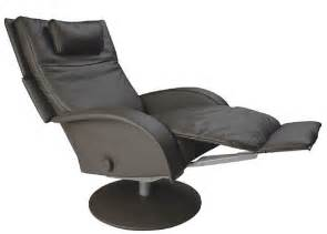 leather ergonomic recliner chair with footrest